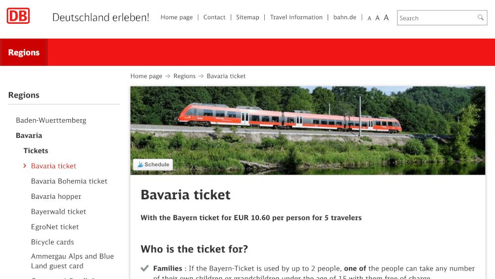 Bayernticket Online